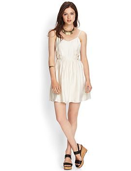 crochet-cutout-cami-dress by forever-21