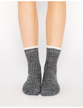 asos-mix-knit-tipped-ankle-socks by asos-collection