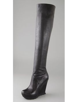 over-the-knee-wedge-boots-with-lug-sole by camilla-skovgaard