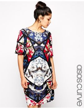 asos-curve-placement-floral-print-dress by asos-curve