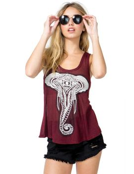cozy-elephant-tulip-back-tank by agaci