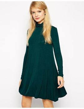 asos-swing-dress-with-turtleneck-with-long-sleeves by asos-collection
