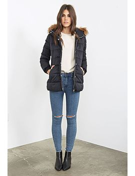 faux-fur-trimmed-puffer-parka by forever-21