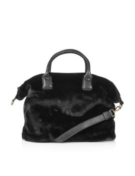 faux-fur-holdall by topshop