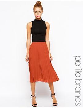 true-decadence-petite-pleated-chiffon-midi-skirt by true-decadence-petite