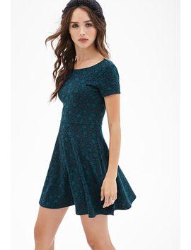 textured-floral-skater-dress by forever-21