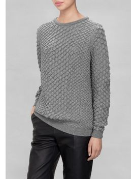 metallic-merino-wool-sweater by &-other-stories