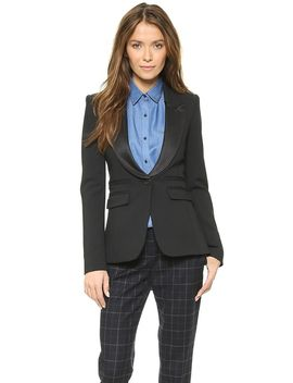 peaked-lapel-tuxedo-blazer by smythe
