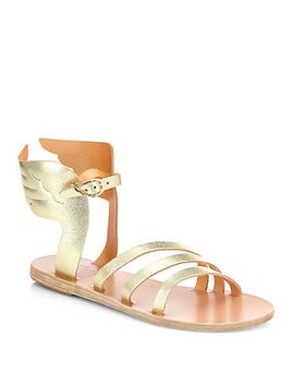 ikaria-winged-metallic-leather-sandals by ancient-greek-sandals