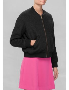 wool-bomber-jacket by &-other-stories