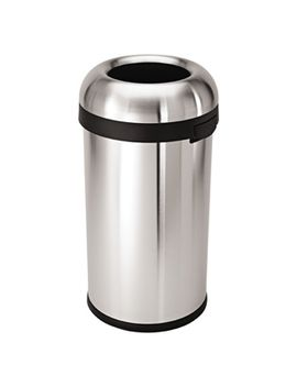 simplehuman-stainless-steel-158-gal-bullet-open-trash-can by container-store