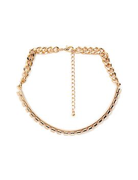 notched-chain-choker by forever-21