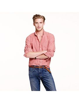 slim-japanese-chambray-shirt-in-sunwashed-red by jcrew