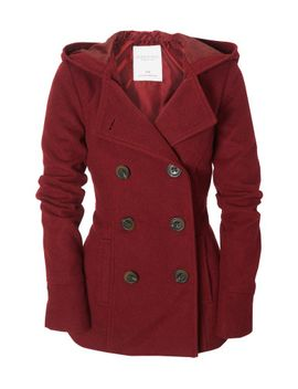 solid-hooded-pea-coat by aeropostale