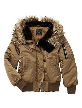 fur-trim-snorkel-puffer by gap