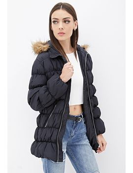faux-fur-trimmed-puffer by forever-21