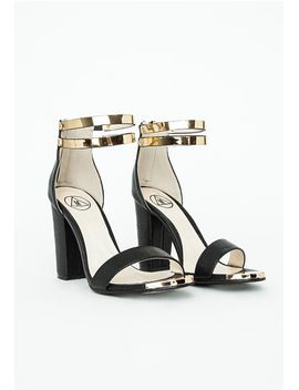 samantha-block-heeled-sandals-black-croc by missguided
