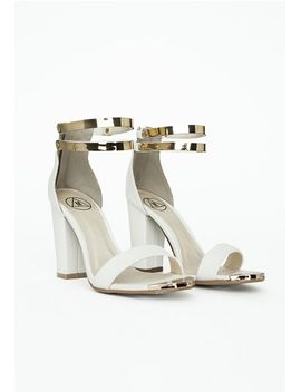 samantha-block-heeled-sandals-white-croc by missguided