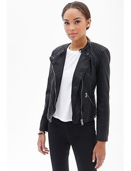 textured-faux-leather-jacket by forever-21