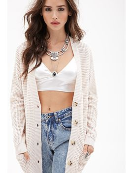 waffle-knit-cardigan by forever-21
