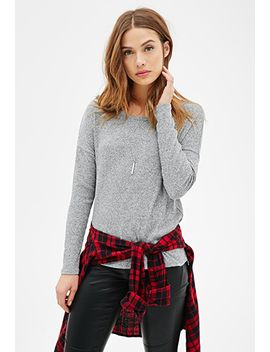 slouchy-ribbed-knit-top by forever-21