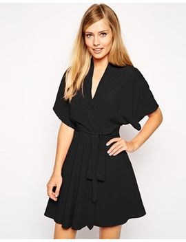 asos-skater-dress-with-kimono-sleeves-and-fixed-waist by asos-collection