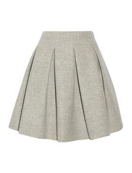 pleated-wool-mini-skirt by miu-miu