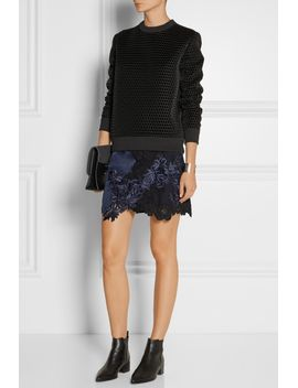 silk-satin-and-guipure-lace-mini-skirt by 31-phillip-lim