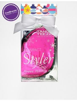 tangle-teezer-bauble-icious-pink-chrome-compact-styler by tangle-teezer