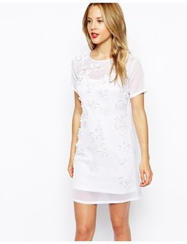 asos-3d-floral-embellished-body-conscious-dress by asos-collection