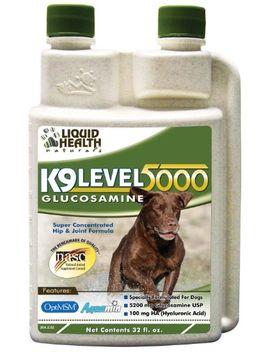 liquid-health-k9-level-5000-glucosamine-chondroitin-opti-msm-8-or-32-oz-(8-ounces) by liquid-health
