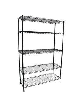 adjustable-5-tier-wire-wide-shelving-unit---black---room-essentials by room-essentials
