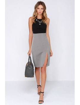 going-greyscale-black-and-grey-midi-dress by lulus