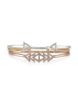 pavé-arrow-cuff---silver by stella&dot