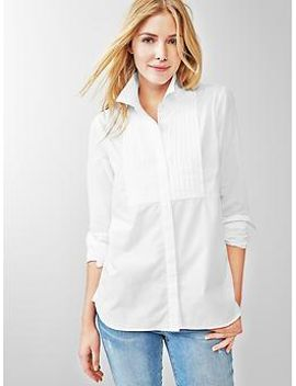pleated-bib-shirt by gap