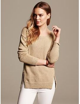 marled-zip-hem-boyfriend-sweater by banana-repbulic