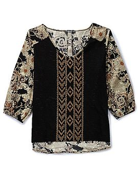 miss-me-tribal-&-floral-top by generic