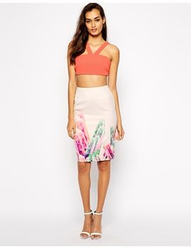 aq-aq-galapagos-pencil-skirt-in-crystal-print by aq_aq