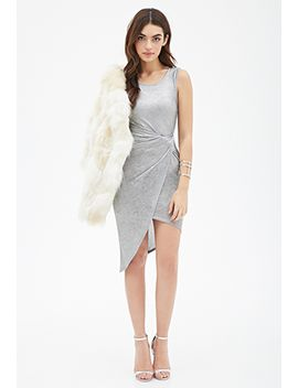 knotted-metallic-wrap-dress by forever-21