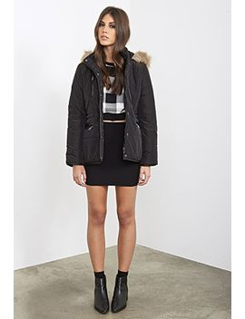faux-fur-trimmed-puffer-jacket by forever-21