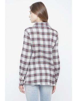 Pink/Blue Plaid Cotton Shirt by 90s Lullaby