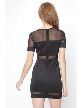 Black Short Sleeve Bodycon Dress by 90s Lullaby