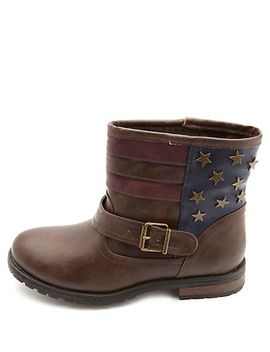bamboo-star-studded-americana-ankle-boots by charlotte-russe