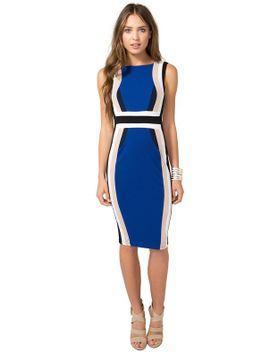 colorblock-contour-sheath-dress by agaci