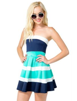 box-pleat-colorblock-dress by agaci
