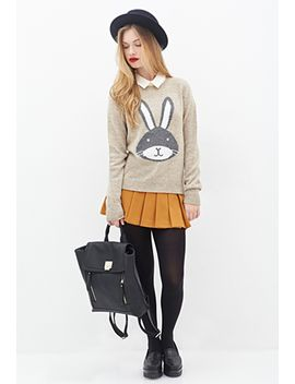 bunny-graphic-sweater by forever-21