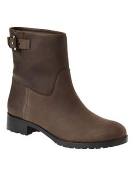 leather-moto-buckle-boots by gap