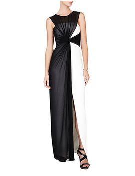 colorblock-draped-mesh-gown by lord-and-taylor