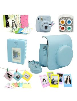 caiul-7-in-1-fujifilm-instax-mini-8-8+-9-instant-film-camera-accessories-bundles-(blue-instax-mini-8-case_-mini-album_-close-up-selfie-lens_color-filters_-wall-hang-frames_film-frame_-film-stickers) by caiul