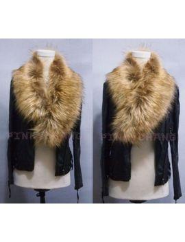 yellow-soft-fluffy-winter-faux-fur-trendy-collar-scarf-shawl-wrap-sh by ebay-seller